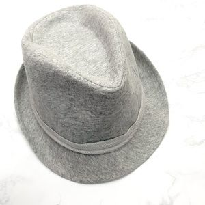 NWT Zara Accessories Heather Gray Fedora Hat